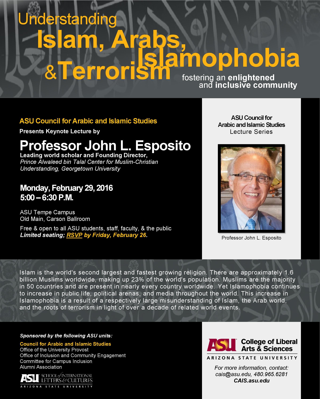 ASU John Esposito Lecture -  Council for Arabic and Islamic Studies